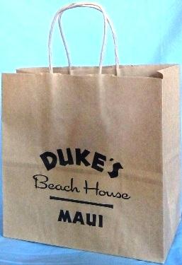 8a85cc43631 Duke s Beach House Maui. 100% Natural Kraft paper ...