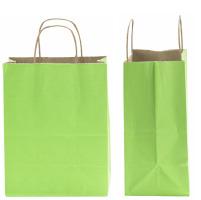 green tint kraft bags