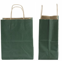 Hunter Green Kraft Bag